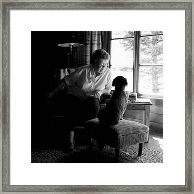 Cabin Chat Framed Print