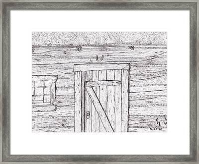 Cabin Framed Print by Clark Letellier