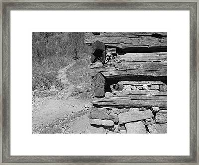 Cabin Construction, 1935 Framed Print