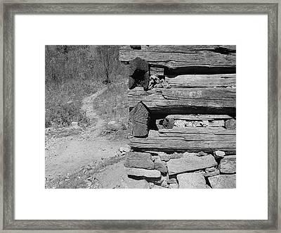 Cabin Construction, 1935 Framed Print by Granger