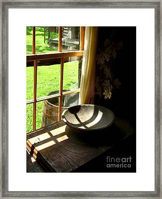 Cabin Crosses I Framed Print
