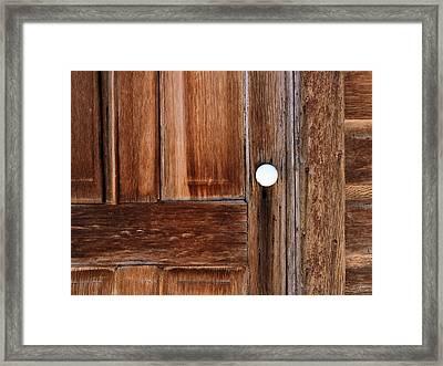 Cabin Door Framed Print by Leland D Howard