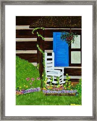 Cabin Fever Framed Print by Celeste Manning