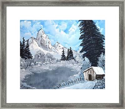 Cabin Fever Framed Print by John Kemp