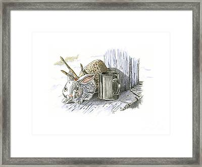 Cabin Fever Winter Blues Framed Print by Kenneth or Susan Posselt