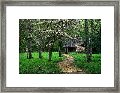 Framed Print featuring the photograph Cabin In Cades Cove by Rodney Lee Williams