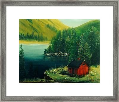 Cabin In The Catskills Framed Print