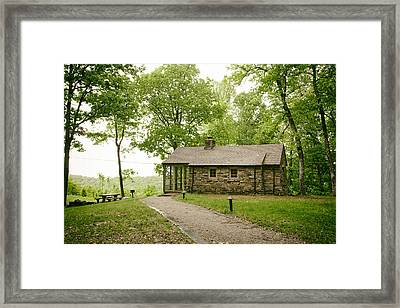 Cabin In The Forest Framed Print