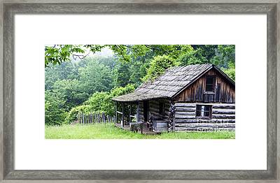 Cabin In The Hills Framed Print