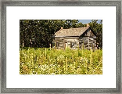 Cabin In The Prairie Framed Print
