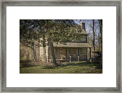 Cabin In The Wood Framed Print by Heather Applegate
