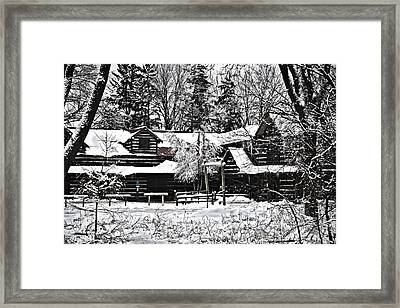 Framed Print featuring the photograph Cabin In The Woods by Deborah Klubertanz
