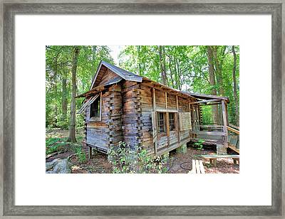 Framed Print featuring the photograph Cabin In The Woods by Gordon Elwell
