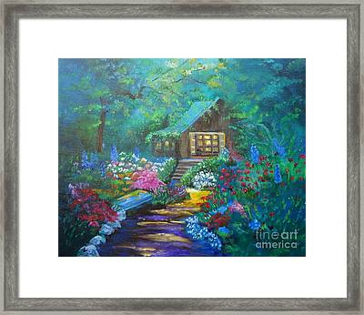 Cabin In The Woods Jenny Lee Discount Framed Print