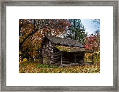 Cabin In The Woods Framed Print by Jim McCain
