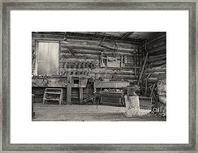 Rustic Cabin Interior Framed Print by Juli Scalzi