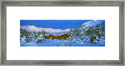 Cabin Mount Alyeska, Alaska, Usa Framed Print