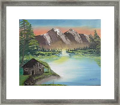 Cabin On The Lake Framed Print by Brian White