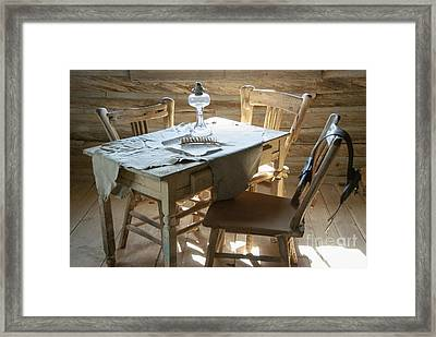 Cabin Room Framed Print by Juli Scalzi