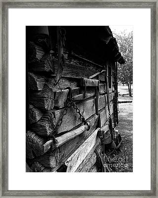 Cabin Wall II Framed Print by Julie Dant