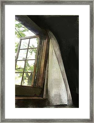 Cabin Window Framed Print