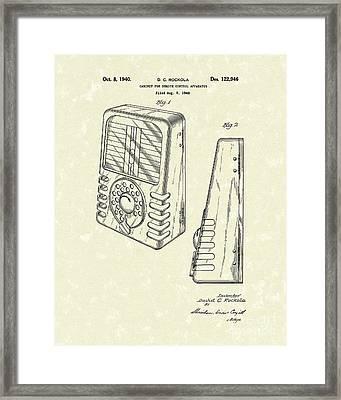 Cabinet 1940 Patent Art Framed Print