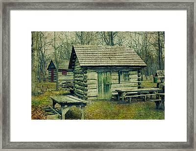 Cabins In The Woods Framed Print