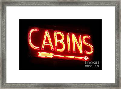 Cabins Framed Print by Olivier Le Queinec