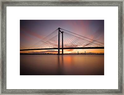 Cable Bridge Framed Print