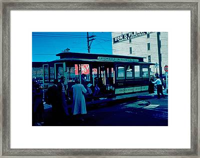 Cable Car 1955 Framed Print by Cumberland Warden