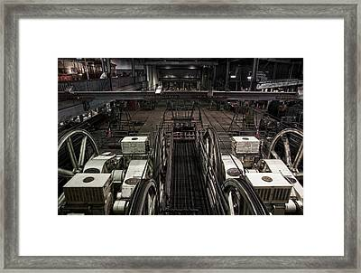 Cable Car Barn In San Francisco Framed Print by RicardMN Photography