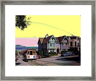 Cable Car Hyde Street Framed Print by Charles Shoup
