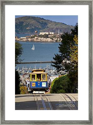 Cable Car In San Francisco Framed Print by Brian Jannsen