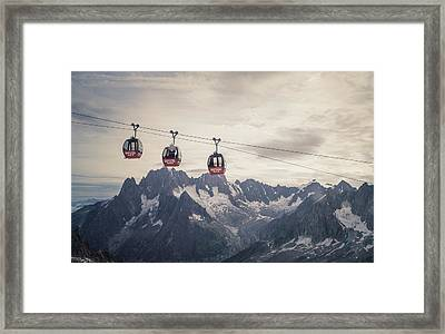 Cable Car In The Alps Framed Print by Buena Vista Images