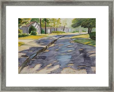 Cable Car Lane Framed Print by Christopher Reid