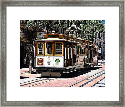 Cable Car - San Francisco Framed Print