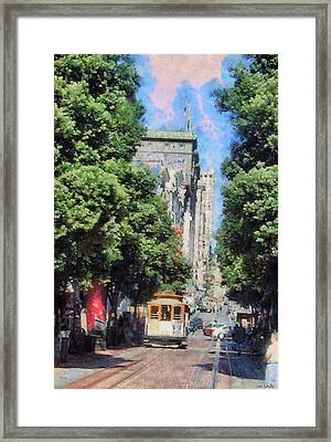 Cable Car To Union Square Framed Print
