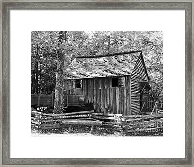 Cable Grist Mill 1 Framed Print by Mel Steinhauer