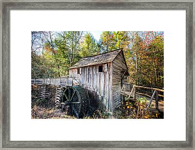 Cable Grist Mill At Cades Cove Framed Print