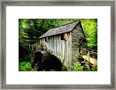 Cable Mill - Cades Cove Framed Print by Stephen Stookey