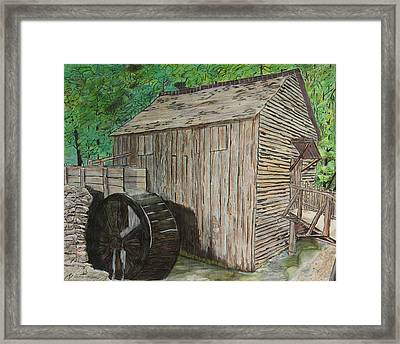 Cable Mill In Cade's Cove Framed Print by David Cardwell