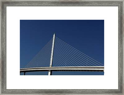 Cable-stayed Bridge Framed Print