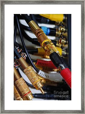 Cables And Wires Framed Print