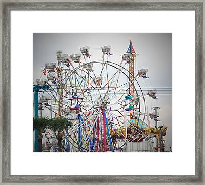 Cables Wires And Wheels Oh Boy Framed Print by Judy Hall-Folde