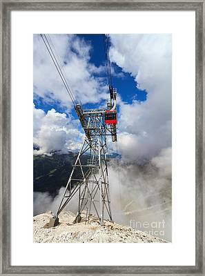 cableway in Italian Dolomites Framed Print