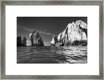Cabo In Black And White Framed Print