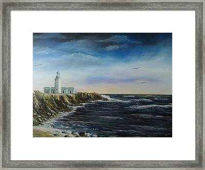 Cabo Rojo Lighthouse Framed Print by Tony Rodriguez