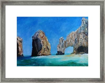 Cabo San Lucas Framed Print by Anais DelaVega
