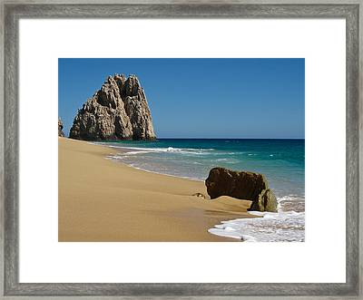 Cabo San Lucas Beach 1 Framed Print by Shane Kelly