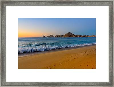 Cabo San Lucas Morning Framed Print by Mark Goodman